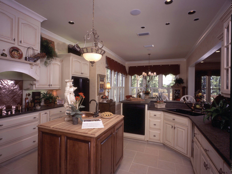 Country French House Plan Kitchen Photo 03 - Newberry European Home 024D-0060   House Plans and More