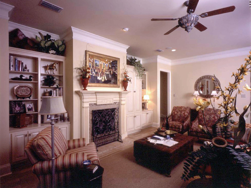 Country French House Plan Living Room Photo 01 - Newberry European Home 024D-0060   House Plans and More