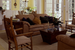 Country House Plan Living Room Photo 03 - Chappelle Plantation Home 024D-0061 | House Plans and More
