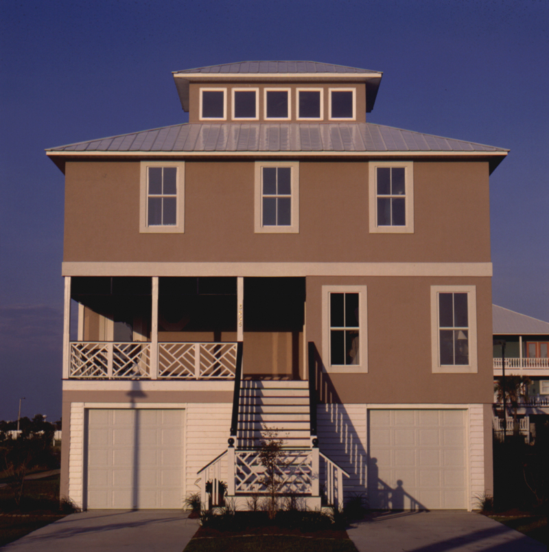 Beach & Coastal House Plan Front Photo 02 - Griffin Park Beach Home 024D-0241   House Plans and More