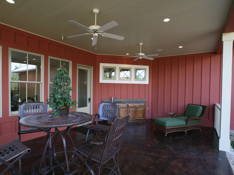 Acadian House Plan Outdoor Living Photo 03 - Damascus Southern Country Home 024D-0797   House Plans and More