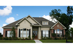 Ranch House Plan Front of Home -  024D-0822 | House Plans and More