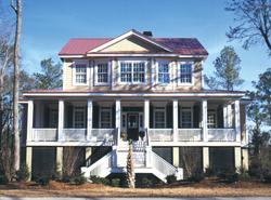 Lowcountry House Plans Front of House 024S-0001