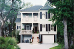 Raised Plantation Style Home With Grand Front Staircase To Deck