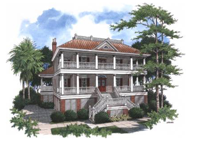 Pennington Bend Lowcountry Home Plan 024S-0018 | House Plans ... on