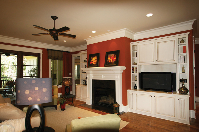 Arts & Crafts House Plan Family Room Photo 01 - Briley Southern Craftsman Home 024S-0025 | House Plans and More