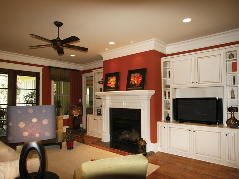 Arts & Crafts House Plan Living Room Photo 02 - Briley Southern Craftsman Home 024S-0025 | House Plans and More