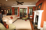 Arts & Crafts House Plan Living Room Photo 04 - Briley Southern Craftsman Home 024S-0025 | House Plans and More
