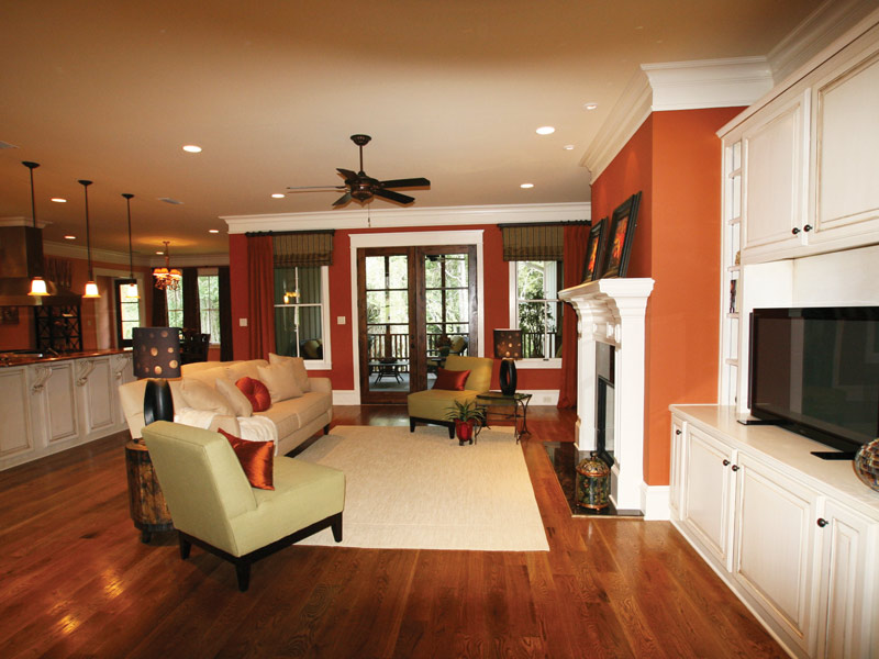 Arts & Crafts House Plan Living Room Photo 07 - Briley Southern Craftsman Home 024S-0025 | House Plans and More