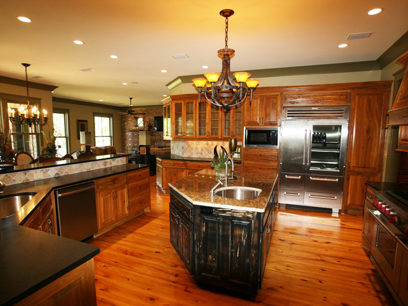 Luxury House Plan Kitchen Photo 02 - Dickerson Creek Rustic Home 024S-0026 | House Plans and More