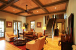 Luxury House Plan Living Room Photo 01 - Dickerson Creek Rustic Home 024S-0026 | House Plans and More