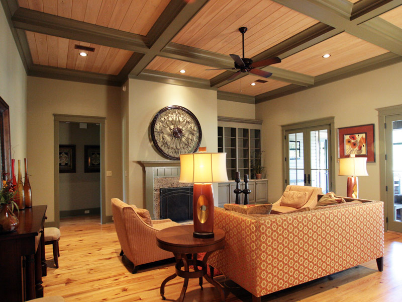 Luxury House Plan Living Room Photo 02 - Dickerson Creek Rustic Home 024S-0026 | House Plans and More