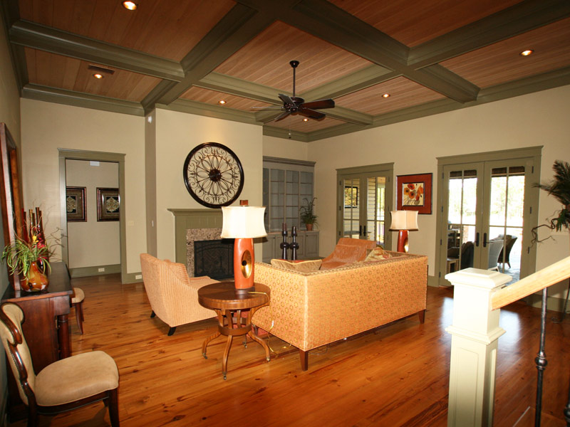 Luxury House Plan Living Room Photo 03 - Dickerson Creek Rustic Home 024S-0026 | House Plans and More