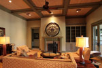 Luxury House Plan Living Room Photo 04 - Dickerson Creek Rustic Home 024S-0026 | House Plans and More