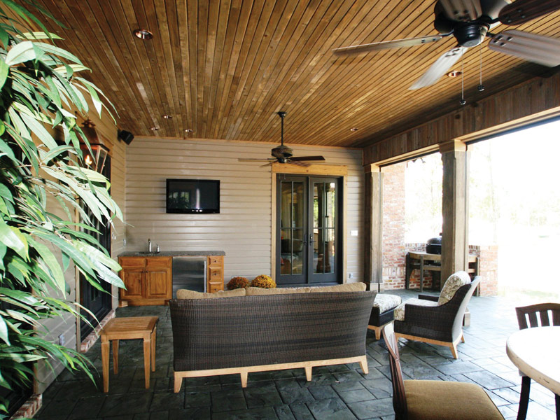 Luxury House Plan Outdoor Living Photo 01 - Dickerson Creek Rustic Home 024S-0026 | House Plans and More