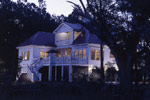 Colonial House Plan Rear Night Photo - Highcroft Manor Luxury Home 024S-0037 | House Plans and More