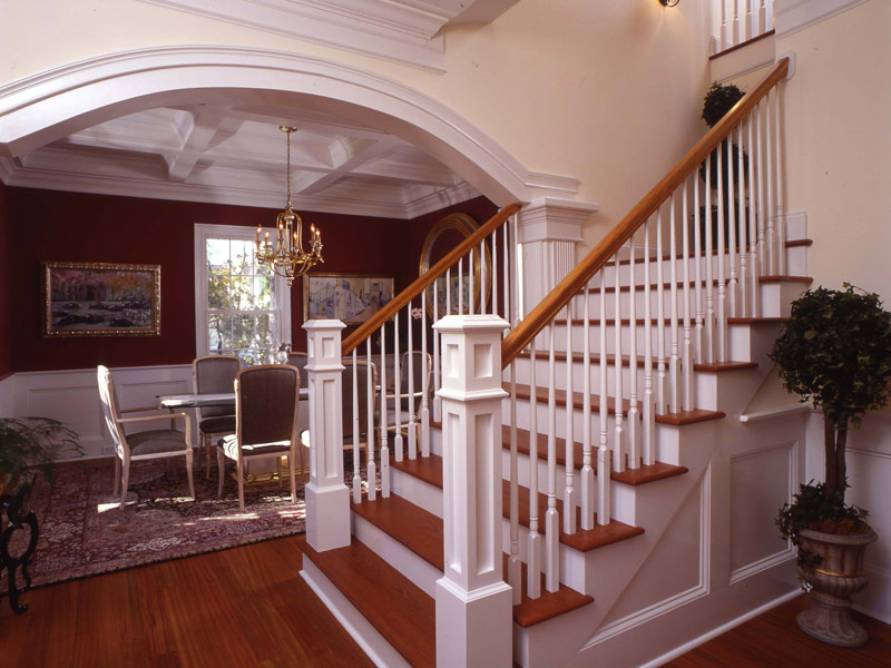 Colonial House Plan Stairs Photo - Highcroft Manor Luxury Home 024S-0037 | House Plans and More