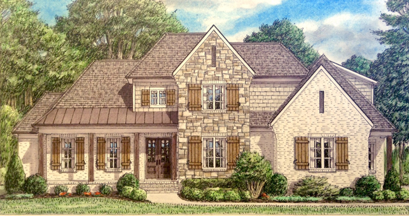 Farmhouse Plan Front of Home - Berg Crossing Traditional Home 025D-0105 | House Plans and More