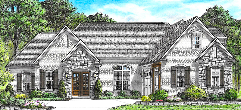 European House Plan Front of Home -  025D-0108 | House Plans and More