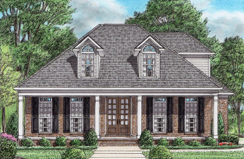 Country House Plan Front of Home - Traditional Luxury Home Plans | Simple 3-Bedroom House Plans