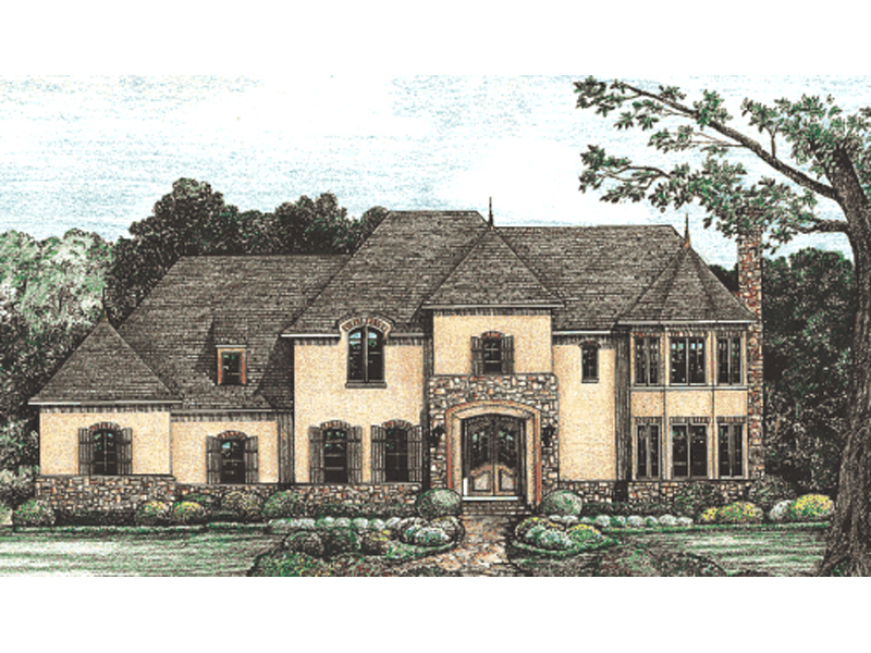 European House Plan Front of Home -  026D-1376 | House Plans and More