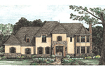 European House Plan Front of House 026D-1376