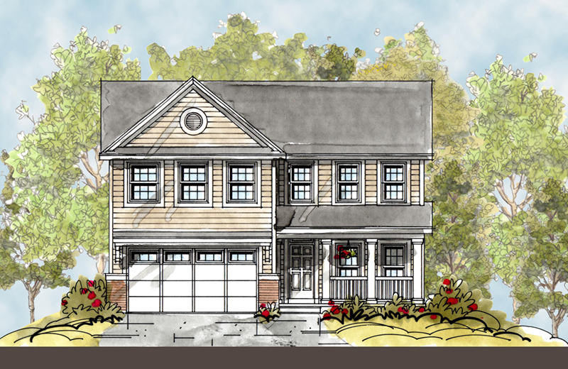 Arts & Crafts House Plan Front Image -  026D-1850 | House Plans and More