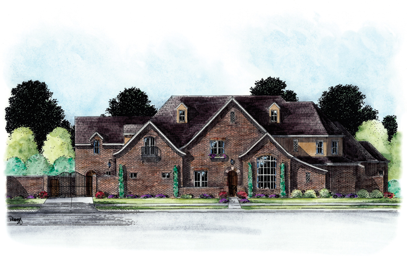 Country French House Plan Front of Home -  026D-1851 | House Plans and More