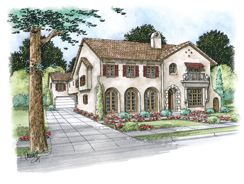 Italian House Plan Front of Home -  026D-1852 | House Plans and More