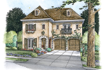 Country French House Plan Front of House 026D-1853