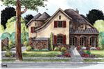 European House Plan Front of House 026D-1854