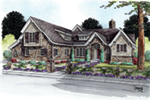 Rustic Home Plan Front of House 026D-1855