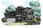 Traditional House Plan Front of Home -  026D-1858 | House Plans and More