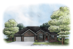 Traditional House Plan Front of Home -  026D-1859 | House Plans and More