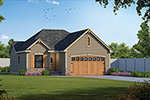 Ranch House Plan Front of House 026D-1861