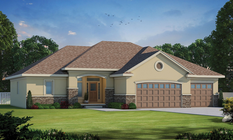 Traditional House Plan Front of Home -  026D-1864 | House Plans and More