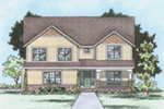 Craftsman House Plan Front of Home -  026D-1866 | House Plans and More