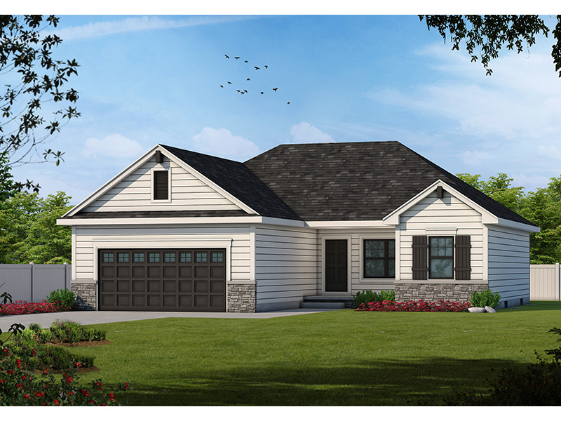 Traditional House Plan Front of Home -  026D-1867 | House Plans and More