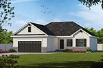 Ranch House Plan Front of House 026D-1867
