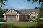 Traditional House Plan Front of Home -  026D-1868 | House Plans and More