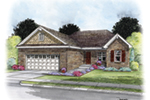 Ranch House Plan Front of House 026D-1869