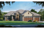 Ranch House Plan Front of Home - Ruggeri Rustic Ranch Home 026D-1871 | House Plans and More