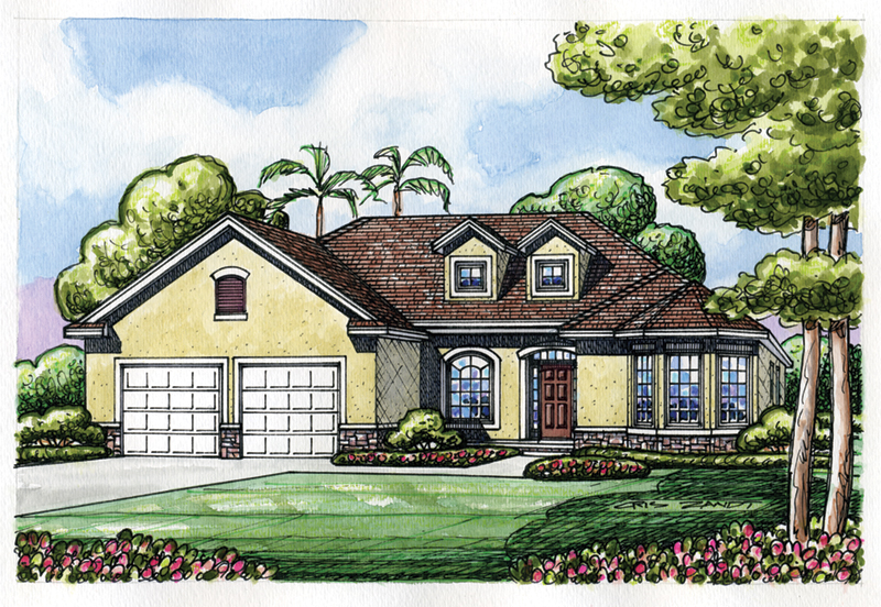 Beach & Coastal House Plan Front of Home -  026D-1880 | House Plans and More
