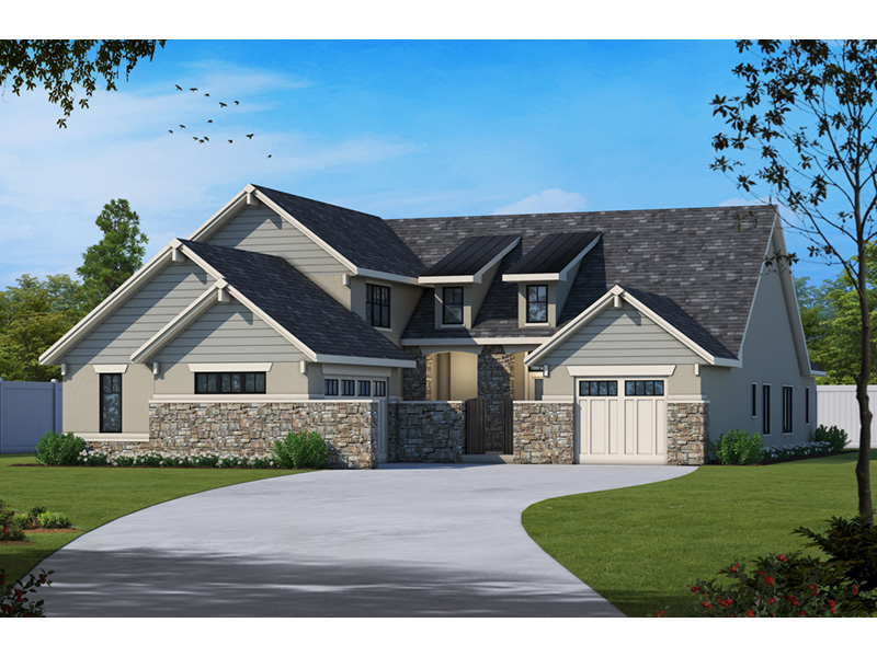 Country French House Plan Front Image - Dornewood Rustic Prairie Home 026D-1885 | House Plans and More