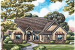 Southern House Plan Front Image - Heather Ridge Ranch Home 026D-1888 | House Plans and More