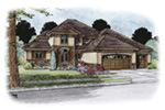 Traditional House Plan Front Image -  026D-1896 | House Plans and More
