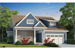 Traditional House Plan Front of Home - Ganaway Craftsman Home 026D-1906 | House Plans and More