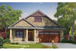 Arts & Crafts House Plan Front of Home - Denis Shingle Craftsman Home 026D-1907 | House Plans and More