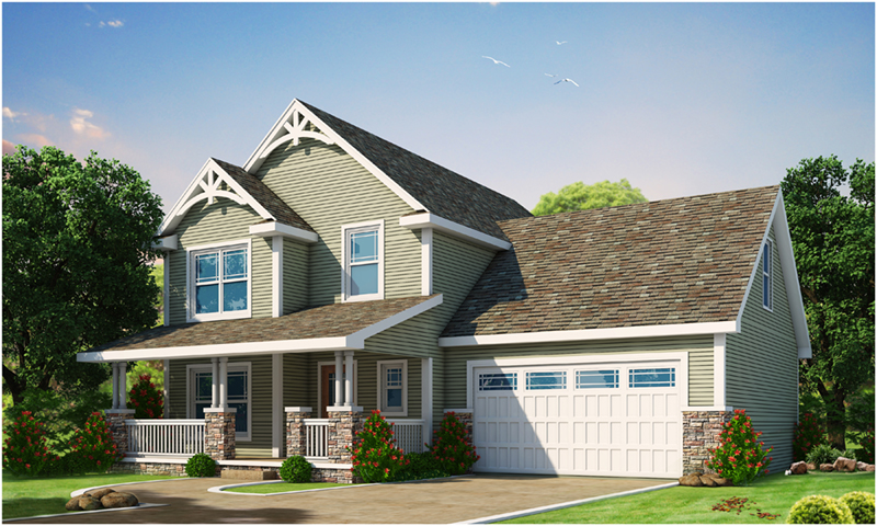Craftsman House Plan Front of Home -  026D-1908 | House Plans and More