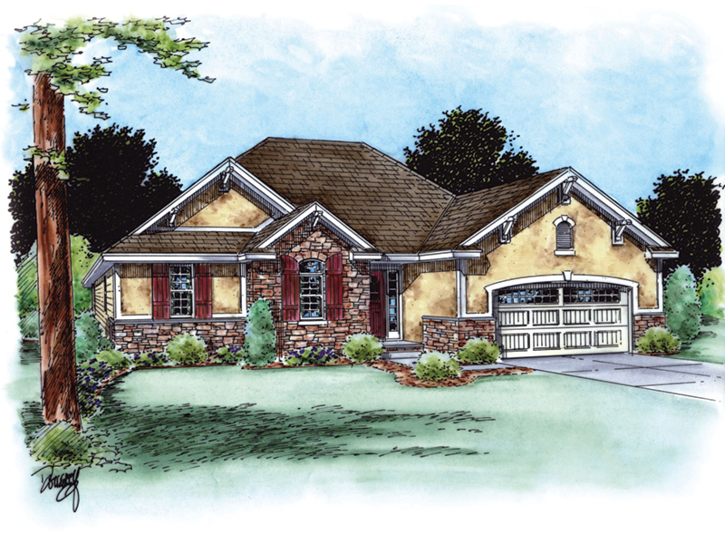 Craftsman House Plan Front Image - Crows Creek Ranch Home 026D-1910 | House Plans and More
